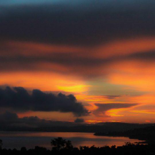 風景夕焼けの Android スマホ 壁紙