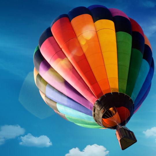 気球カラフル青空の Android スマホ 壁紙