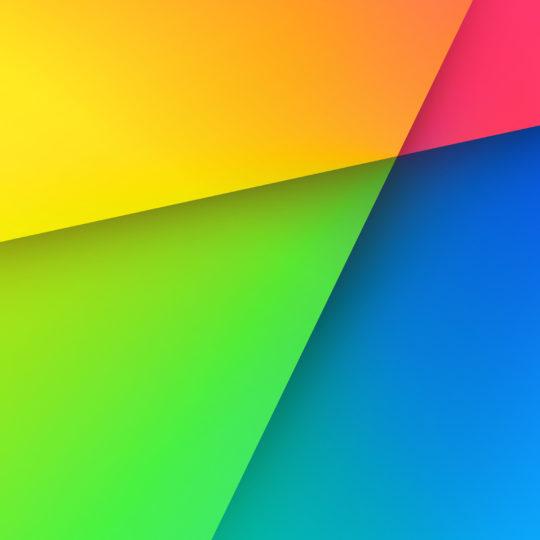 カラフル赤緑青黄の Android スマホ 壁紙