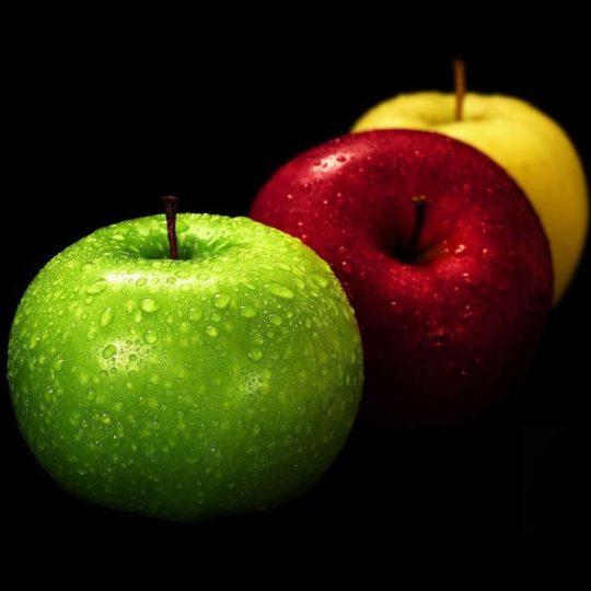 りんご緑赤黄黒クールの Android スマホ 壁紙