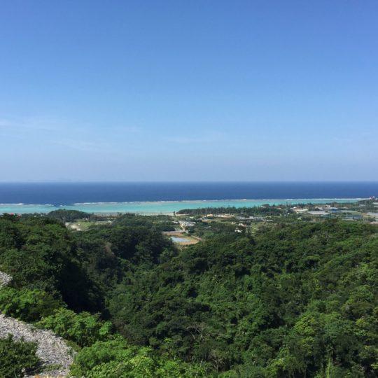風景山海南国青空の Android スマホ 壁紙