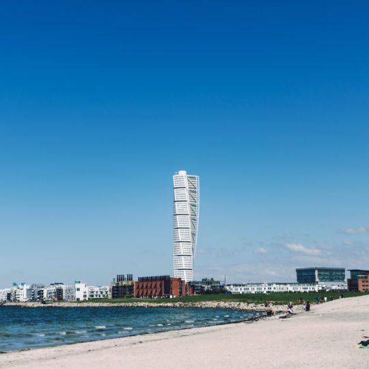 風景海砂浜ビルの Android スマホ 壁紙