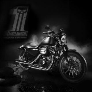 乗り物バイク黒