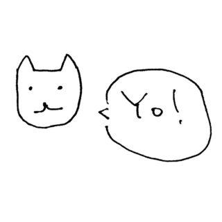 イラスト猫白Yo!
