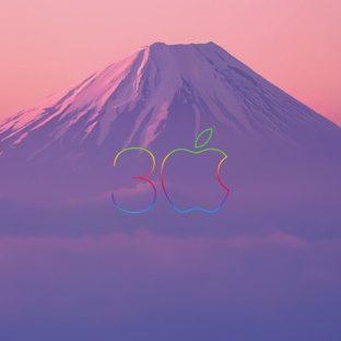 apple風景山紫の Apple Watch 文字盤壁紙