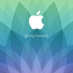 Appleロゴ春イベント spring forward. 緑青紫の Apple Watch 文字盤壁紙