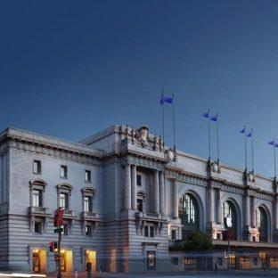 風景建物青の Apple Watch 文字盤壁紙