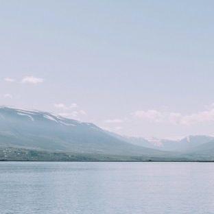 風景白青山海の Apple Watch 文字盤壁紙