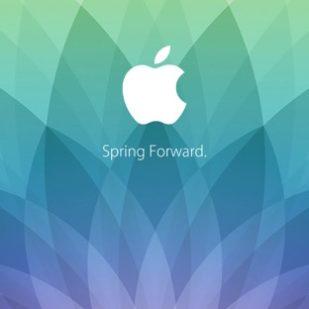 Appleロゴ春イベント spring forward. 緑青紫