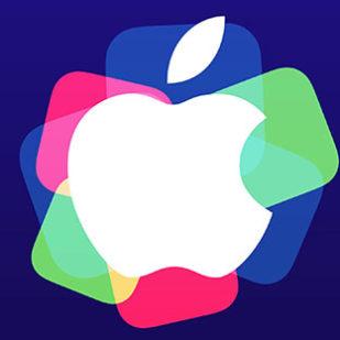 Appleロゴ2015イベント紫