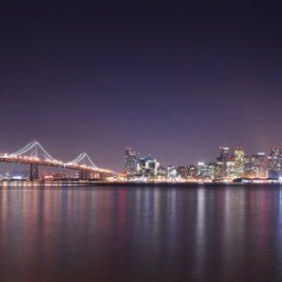 風景夜景港