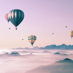 風景気球女子向け可愛い空