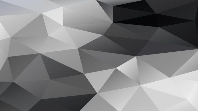 模様ポリゴン白黒の Desktop PC / Mac 壁紙