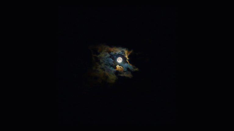 風景夜空月黒の Desktop PC / Mac 壁紙