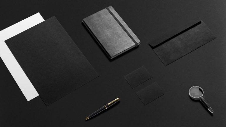 文房具黒の Desktop PC / Mac 壁紙