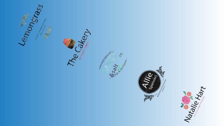 模様ロゴ青の Desktop PC / Mac 壁紙