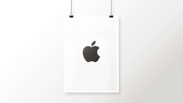 Appleロゴ白黒クールポスターの Desktop PC / Mac 壁紙