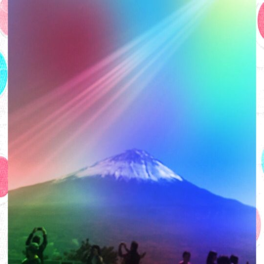 Mt. Fuji cherries Android SmartPhone Wallpaper