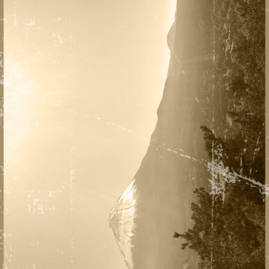 Mt. Fuji sepia Android SmartPhone Wallpaper