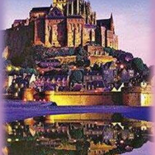 Mont-Saint-Michel night view Android SmartPhone Wallpaper