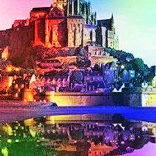 Mont Saint Michel colorful Android SmartPhone Wallpaper