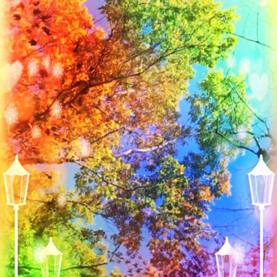 Street tree colorful Android SmartPhone Wallpaper