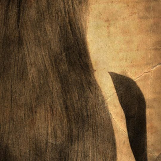 Black hair Sepia Android SmartPhone Wallpaper