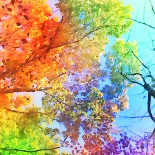 Trees colorful Android SmartPhone Wallpaper