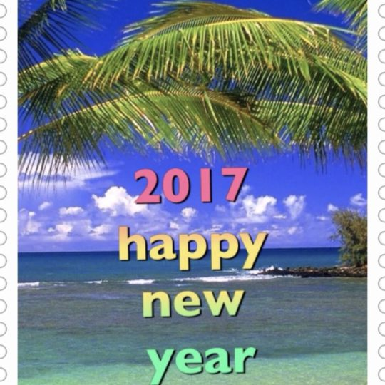 Tropical New Year Android SmartPhone Wallpaper