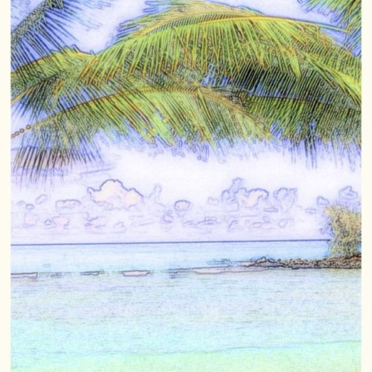 Tropical sketch Android SmartPhone Wallpaper