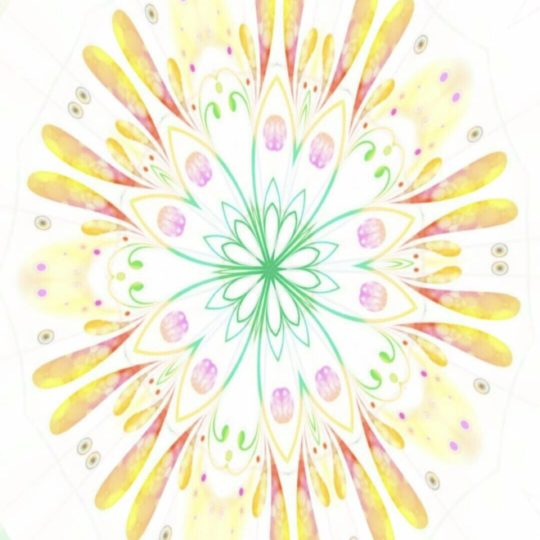 Flower circle Android SmartPhone Wallpaper