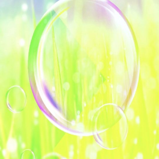 Soap bubble grass Android SmartPhone Wallpaper