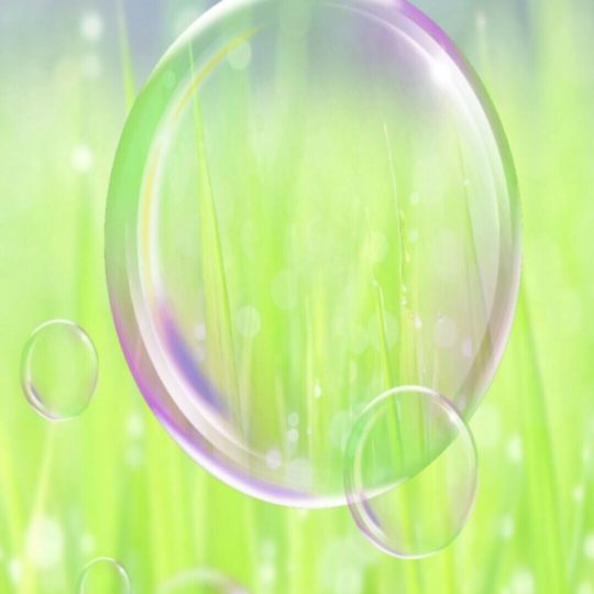 Grassy bubble Android SmartPhone Wallpaper