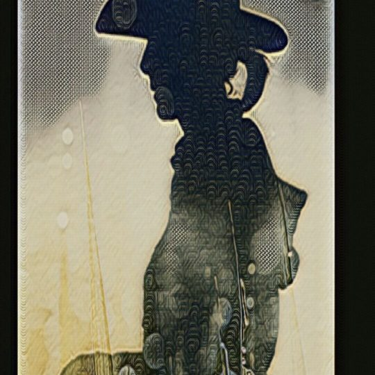 Cowboy silhouette Android SmartPhone Wallpaper