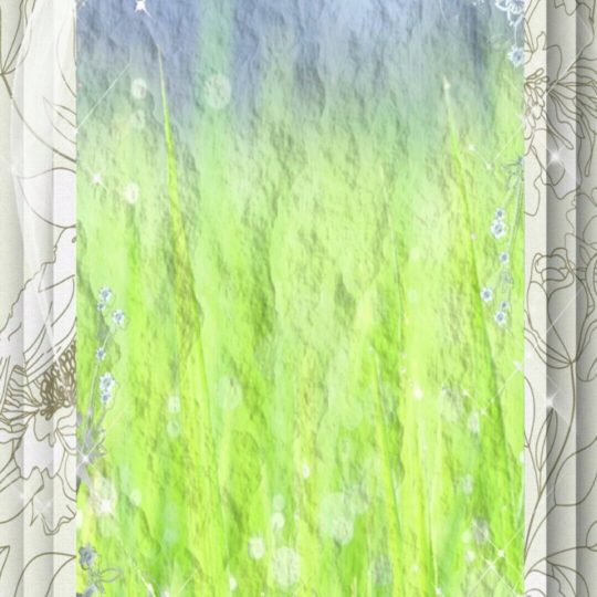 Grassy frame Android SmartPhone Wallpaper