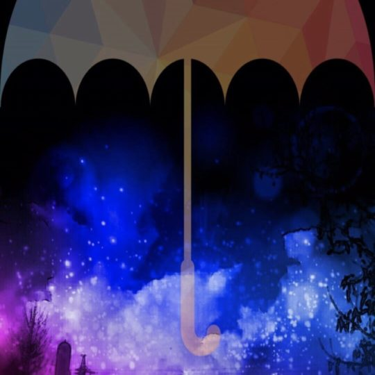 Night sky umbrella Android SmartPhone Wallpaper