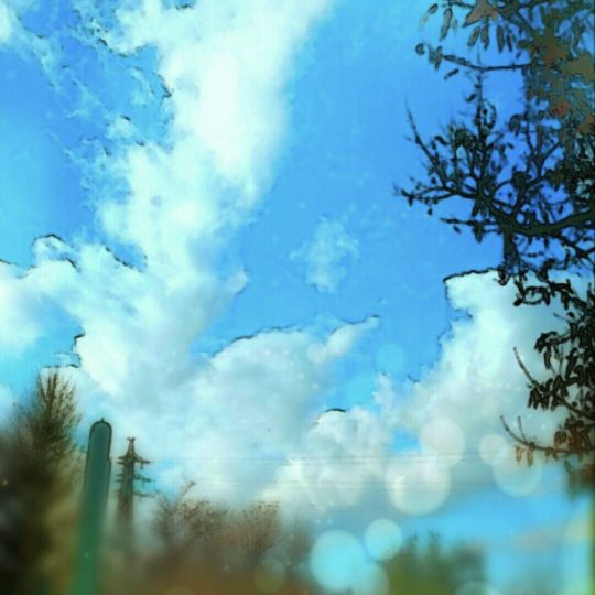 Blue sky scenery Android SmartPhone Wallpaper