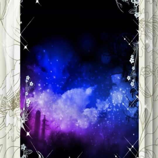Night view flower Android SmartPhone Wallpaper