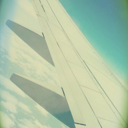 Airplane wing Android SmartPhone Wallpaper