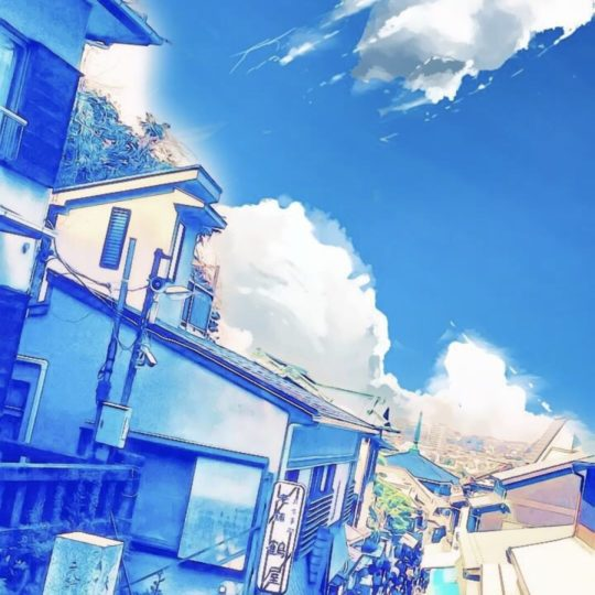Watercolor street Android SmartPhone Wallpaper