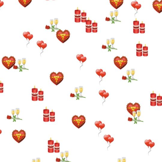 Heart flower candle Android SmartPhone Wallpaper