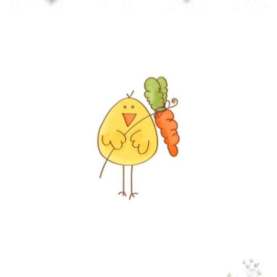 Chick Carrots Android SmartPhone Wallpaper