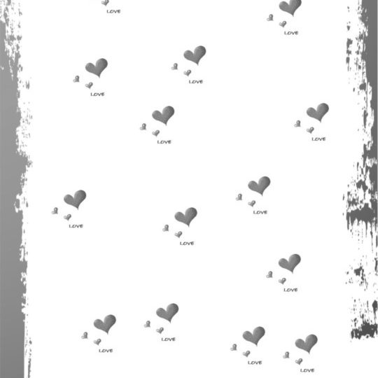 Heart gray Android SmartPhone Wallpaper