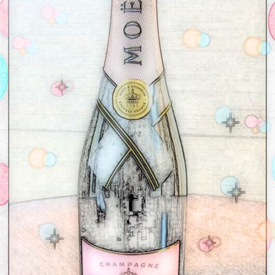 Moet et Chandon sketch Android SmartPhone Wallpaper