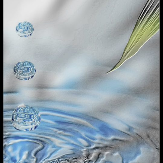 Water surface stone Android SmartPhone Wallpaper