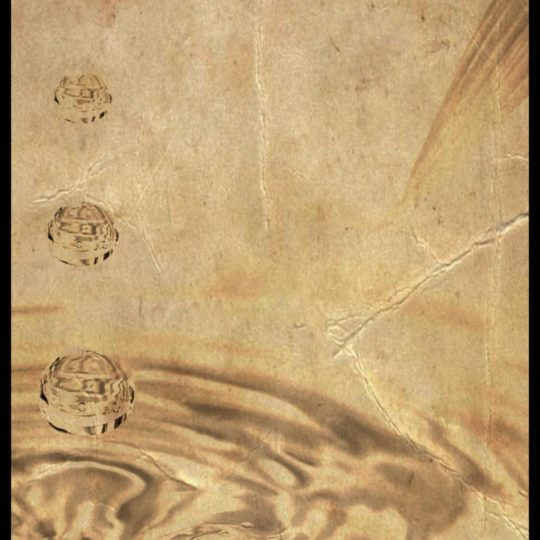 Water surface drawing Android SmartPhone Wallpaper