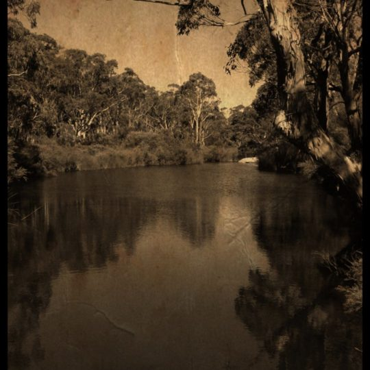 River sepia Android SmartPhone Wallpaper