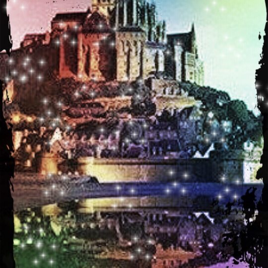 Mont Saint Michel Light Up Android SmartPhone Wallpaper