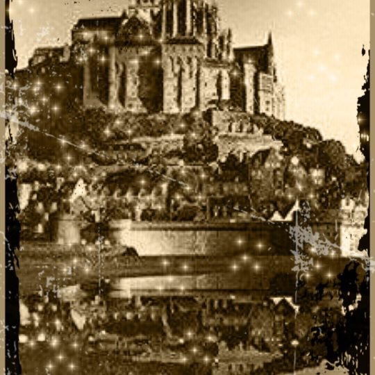 Mont Saint Michel Sepia Android SmartPhone Wallpaper