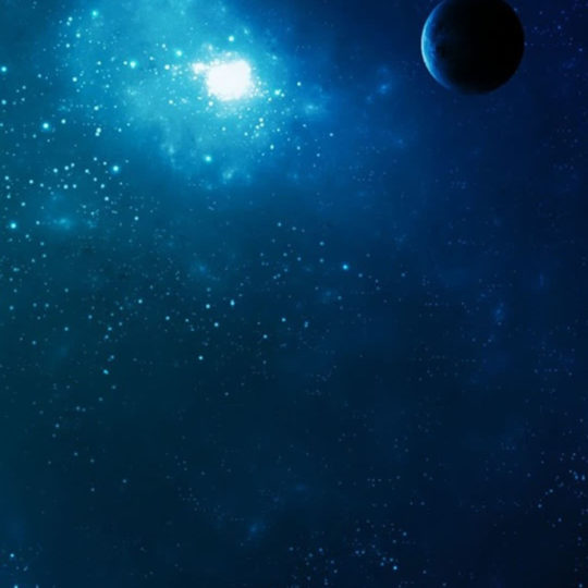 Space blue Android SmartPhone Wallpaper